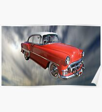 Red Classic Car From The 50s 60s Poster