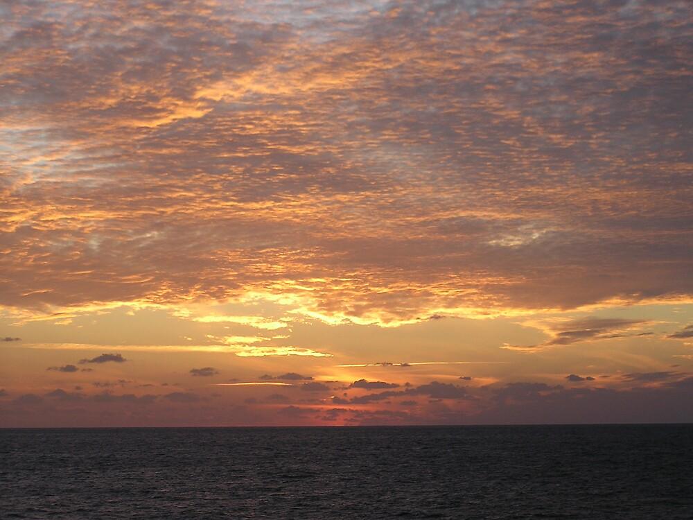 Sunset At Sea by BuddyOne
