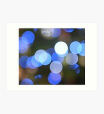 Bubbles of Light  Blue Art Print