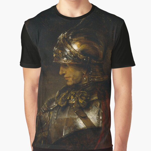 """Rembrandt Harmenszoon van Rijn, """"Alexander the Great (Man in Armour)"""", 1658 Graphic T-Shirt"""