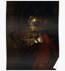 "Rembrandt Harmenszoon van Rijn, ""Alexander the Great (Man in Armour)"", 1658 Poster"