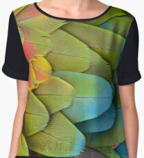 Parrot feathers Chiffon Top