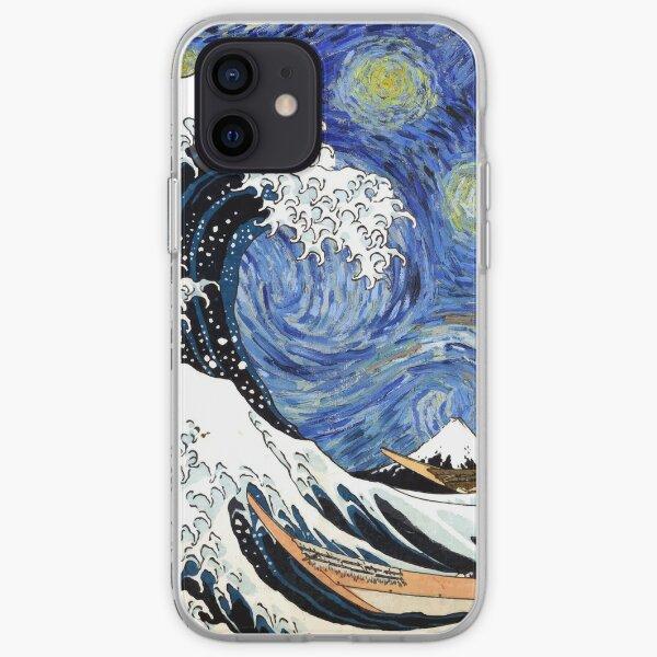 Iconic Starry Night Wave of Kanagawa iPhone Soft Case