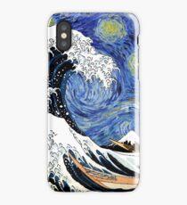 Iconic Starry Night Wave of Kanagawa iPhone Case