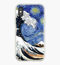 Iconic Sternennachtwelle von Kanagawa iPhone-Hülle & Cover