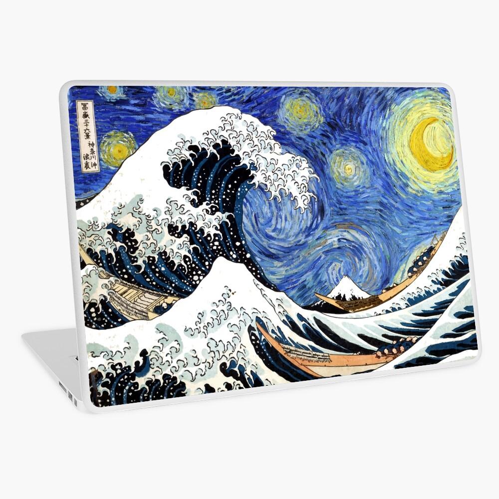 Iconic Starry Night Wave of Kanagawa Laptop Skin