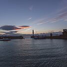 Newhaven Harbour and Lighthouse by Jasmin Bauer