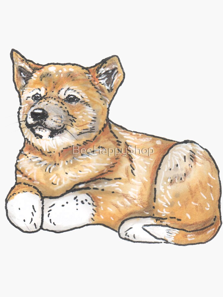 Dingo dog pup - Animal series by BeeHappyShop