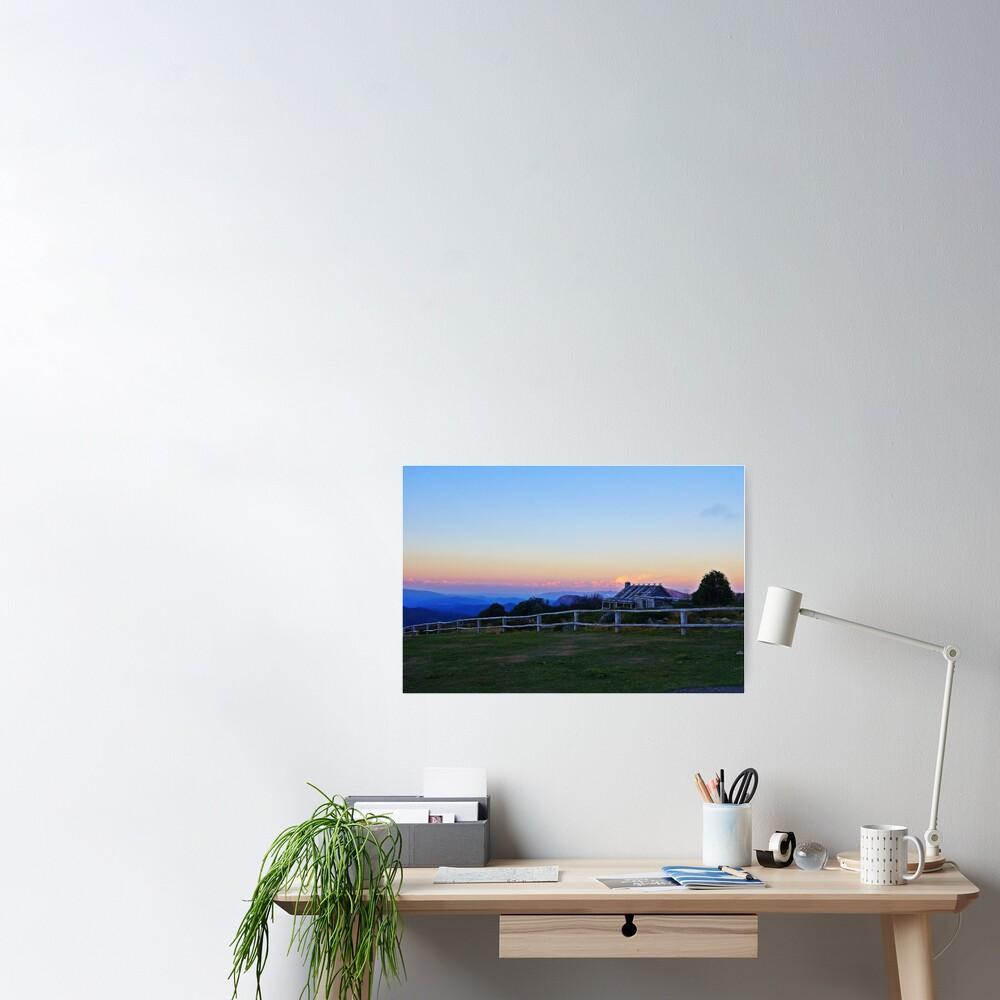 Sunset @ Craig's Hut Poster