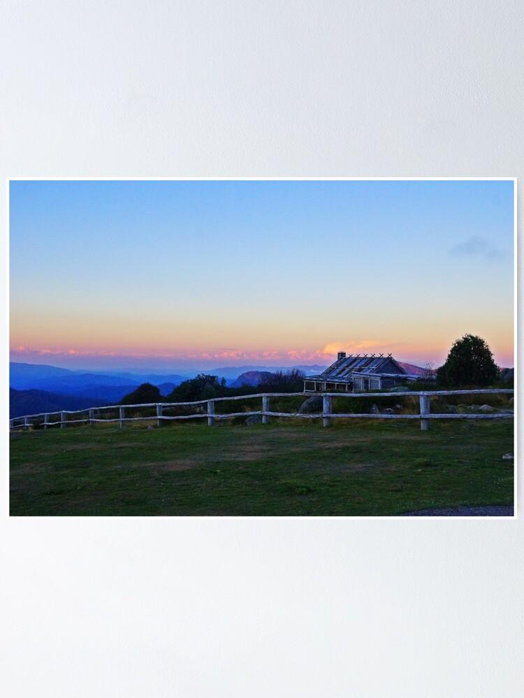 Alternate view of Sunset @ Craig's Hut Poster