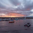 Newhaven harbour in Edinburgh by Jasmin Bauer