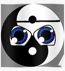 Geeky Yin yang Poster