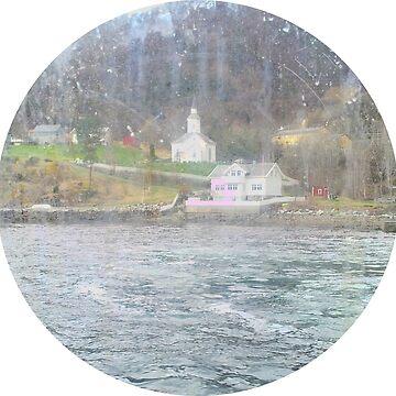 Vintage Norwegian fjord by zenha