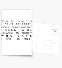who says Postcards