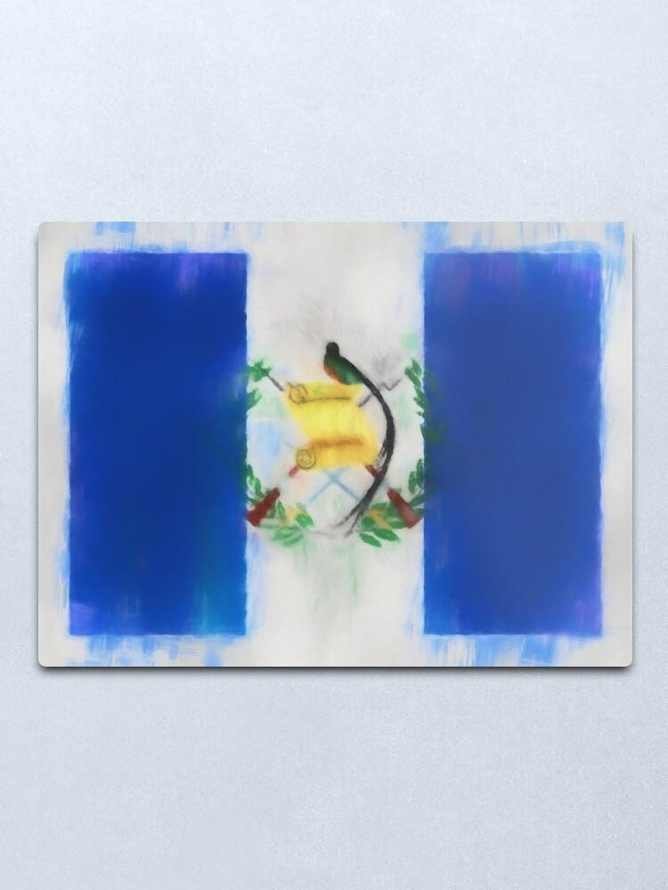Alternate view of Guatemala Flag Reworked No. 66, Series 1 Metal Print