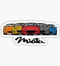 MX5 Miata Generations Sticker