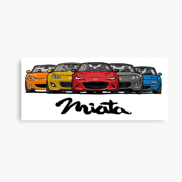 MX5 Miata Générations Impression sur toile