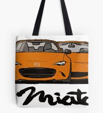 MX5 Miata Generations Orange T-Shirt Tote Bag