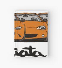 MX5 Miata Generations Orange T-Shirt Hardcover Journal