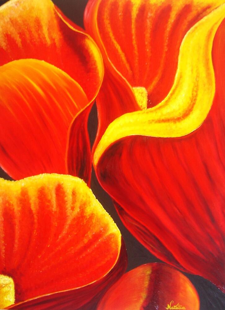 Red Cala by Natalija Vocanec