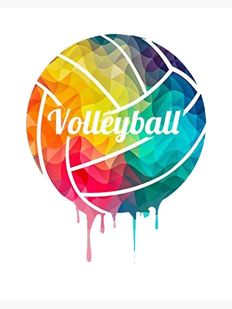 Volleyball Ball Colorful Print Graphic Art Board Print By Qualitydesigns Redbubble