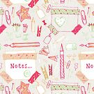 Notes and stationary items by bryonyhalsted