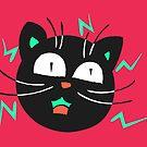 Crazy Electric Cat by Andreea Butiu