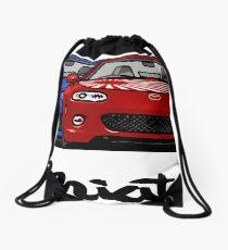 MX5 Miata NC Blue-Red Drawstring Bag