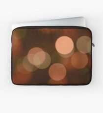 Bubbles of Light  Brown Laptop Sleeve