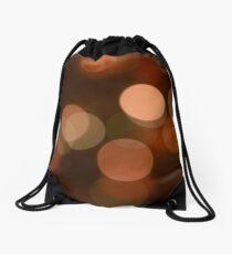 Bubbles of Light  Brown Drawstring Bag