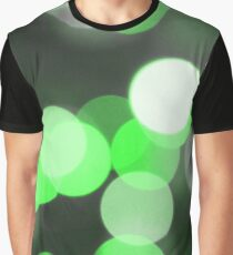 Bubbles of Light  Green Graphic T-Shirt