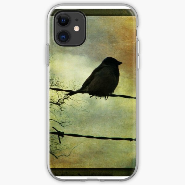 Bird on a wire iPhone Soft Case