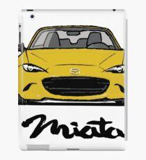 MX5 Miata ND Yellow iPad Case/Skin