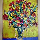 Still Life with flowers by Richard  Tuvey