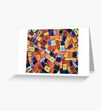 Colorful Sidewalk Greeting Card