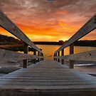 The Pier to the Lake by TJ Baccari Photography