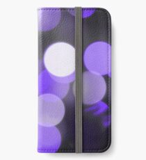 Bubbles of Light  Indigo iPhone Wallet/Case/Skin