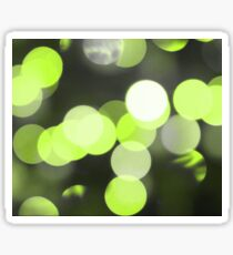 Bubbles of Light  Lime Sticker