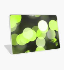 Bubbles of Light  Lime Laptop Skin