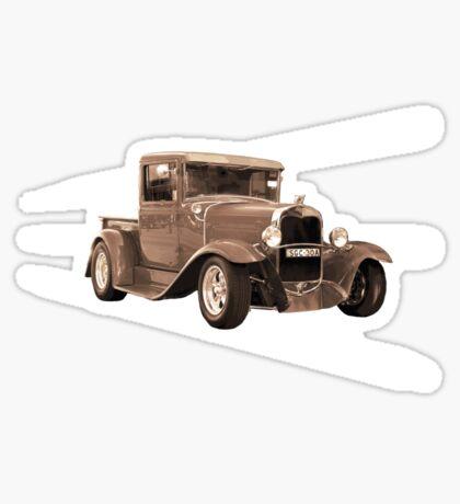 vintage car sepia Sticker