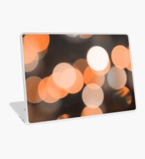 Bubbles of Light  Orange Laptop Skin