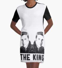 The King Elvis b&w T-shirt Graphic T-Shirt Dress