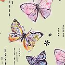 Pastel Butterflies by bryonyhalsted