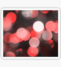 Bubbles of Light  Red Sticker