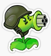 Gatling Pea from Plants vs Zombies Sticker