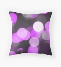 Bubbles of Light  Violet Throw Pillow