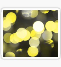 Bubbles of Light  Yellow Sticker