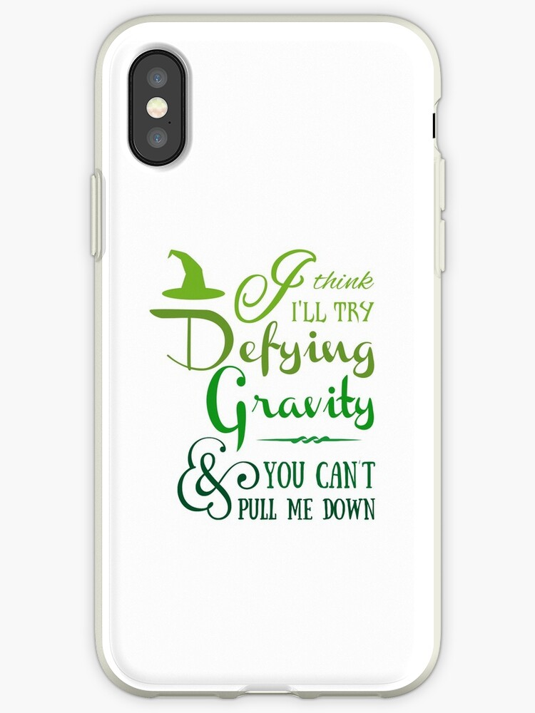 new style 52b54 375dc 'Defying Gravity - Wicked Musical Quote Lyrics' iPhone Case by  EnchantedWishes