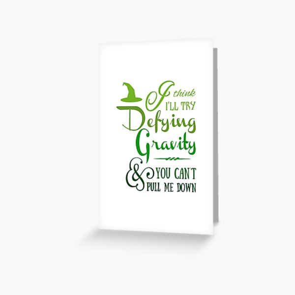 Wicked Musical Greeting Cards Redbubble