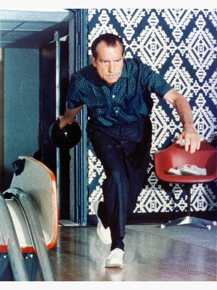 Richard Nixon Bowling by flippinsg